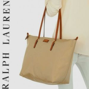 RALPH LAUREN Nylon 'Oxford' Tote